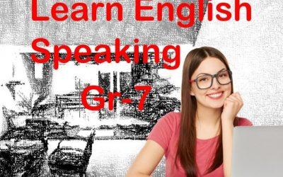 English Speaking Grade 7